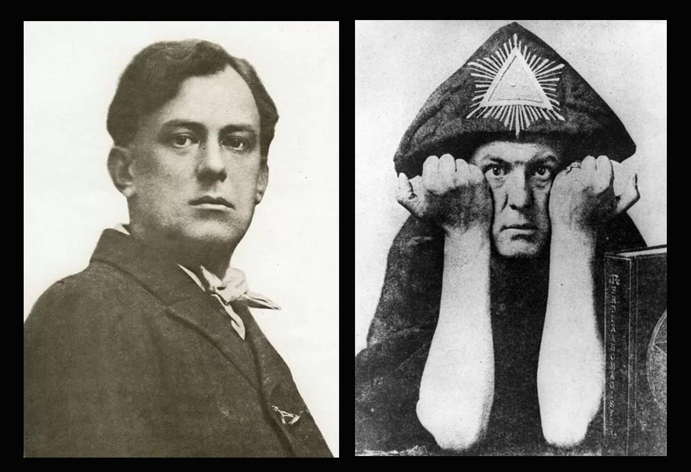 На фото известный оккультист и создатель колоды Таро Тота Алистер Кроули