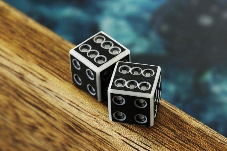 На игральных кубиках