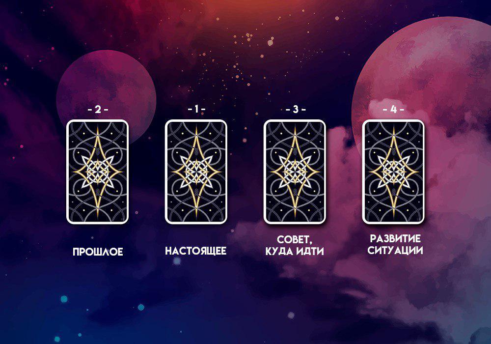 Расклад 4 карты