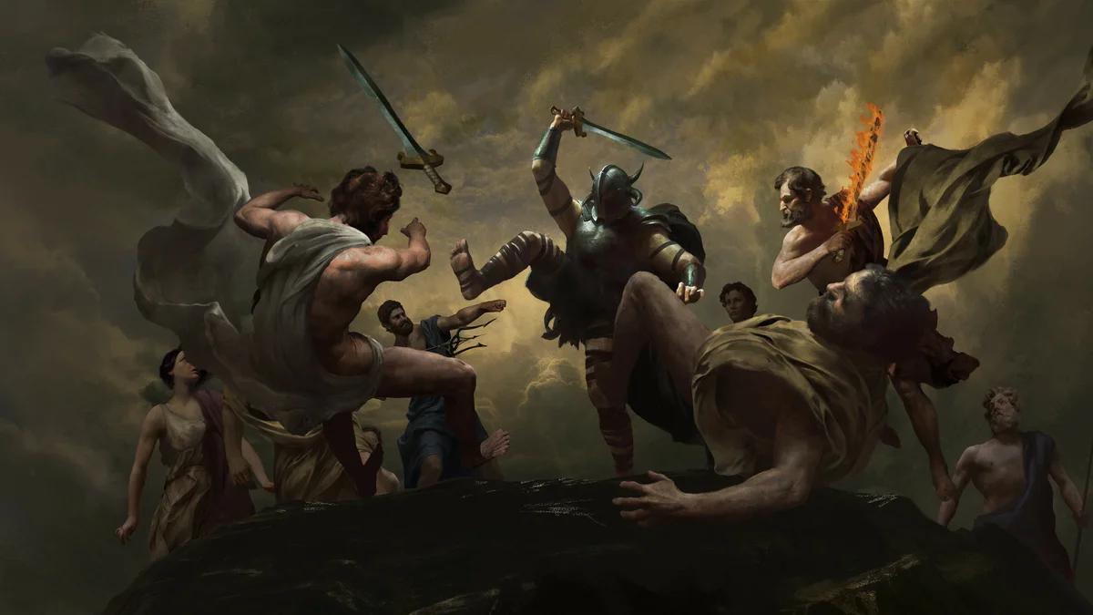 Война между богами и титанами