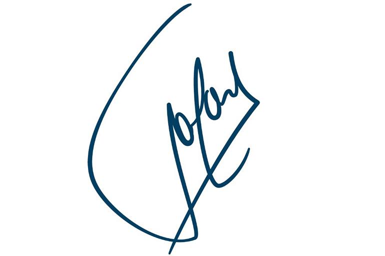 Подписывайтесь росчерком вверх